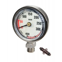 45mm Slim Pressure Gauge White